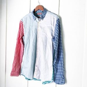 THOMAS PINK Gingham Colorful Button Down Shirt S